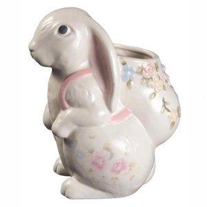 🆕 Pfaltzgraff Tea Rose Collection Bunny Vase